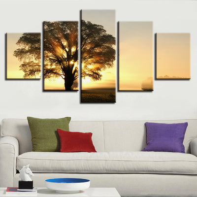 SUNRISE BEHIND TREE - Ole Canvas