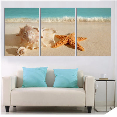 STARFISH AT BEACH - Ole Canvas