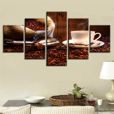 Spilled Coffee Beans - Ole Canvas
