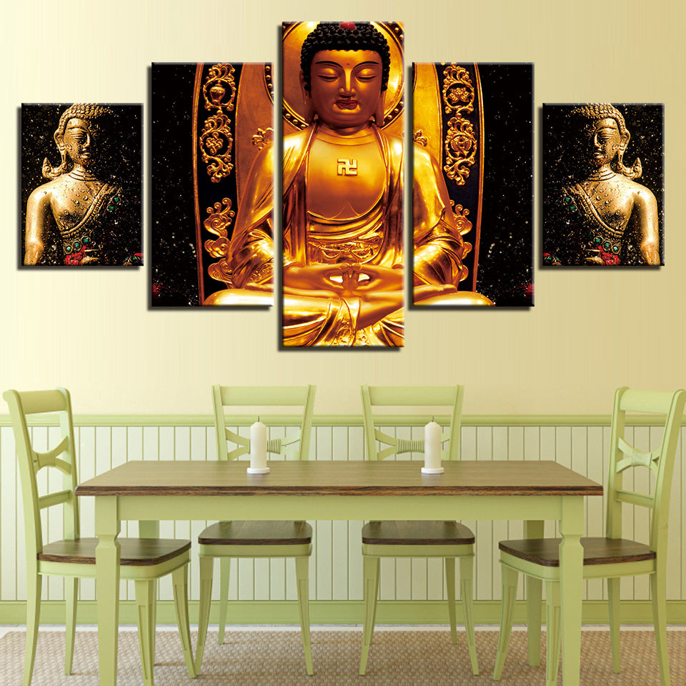 Three Gold Buddha
