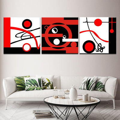 Abstract Circles - Ole Canvas