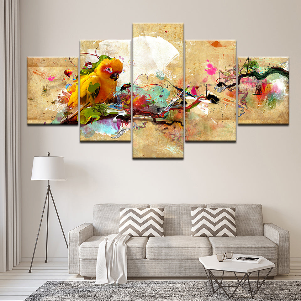 Yellow Parrot - Ole Canvas