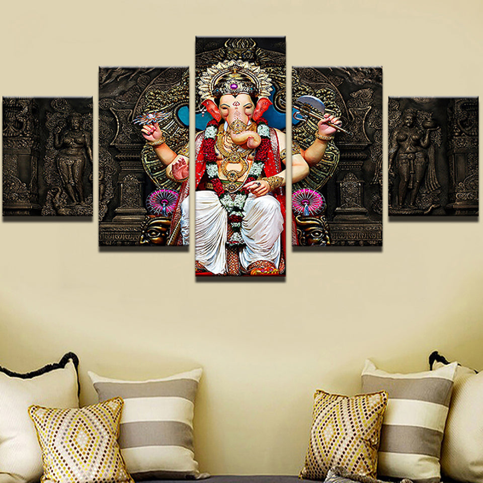BLESSINGS OF GANESHA, PRINTS, Ole Canvas