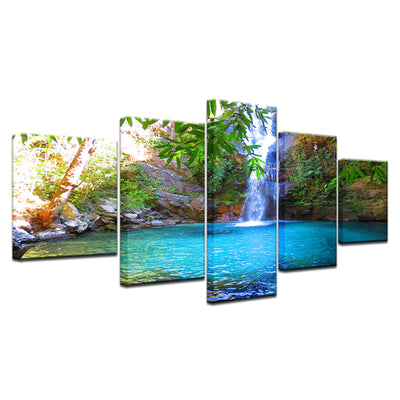 WATERFALL IN LAKE - Ole Canvas