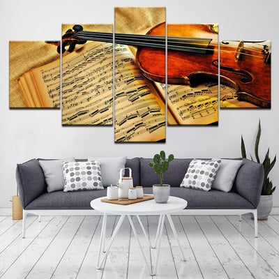 VIOLIN ON A MUSICAL NOTE - Ole Canvas