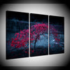 THE RED TREE - Ole Canvas