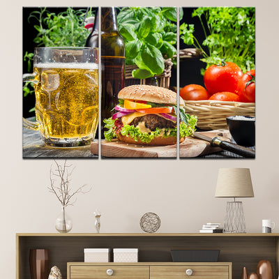 BEER AND HAMBURGER - Ole Canvas