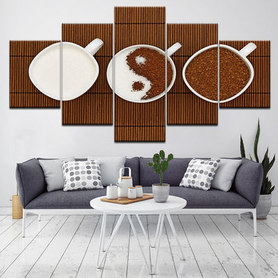 Coffee Yin Yang - Ole Canvas