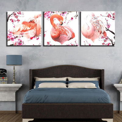 Pink Flamingos - Ole Canvas