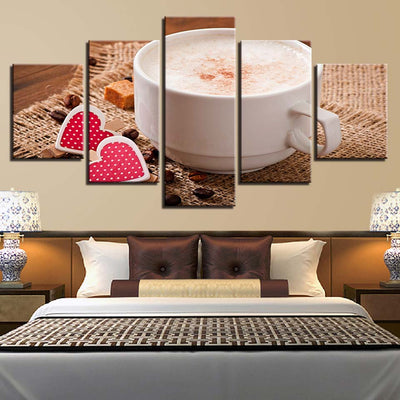Coffee Two Hearts - Ole Canvas