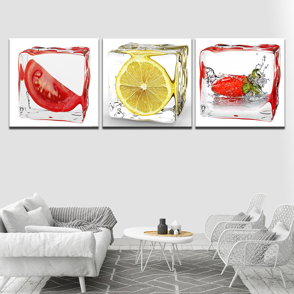 Lemon Ice Cubes, PRINTS, Ole Canvas