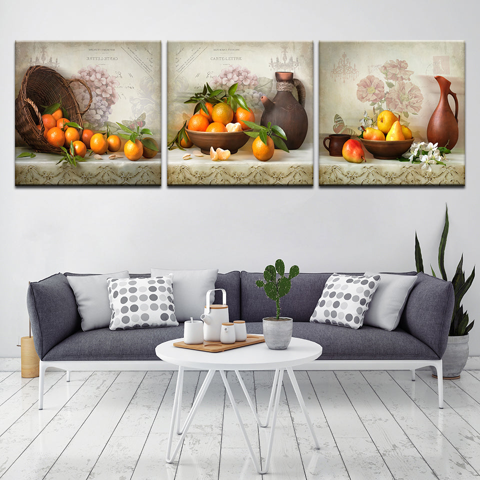 Oranges and Pear, PRINTS, Ole Canvas