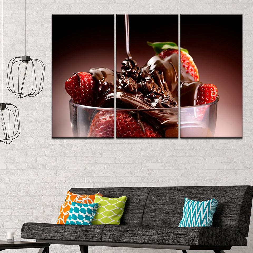 Chocolate Strawberry, PRINTS, Ole Canvas
