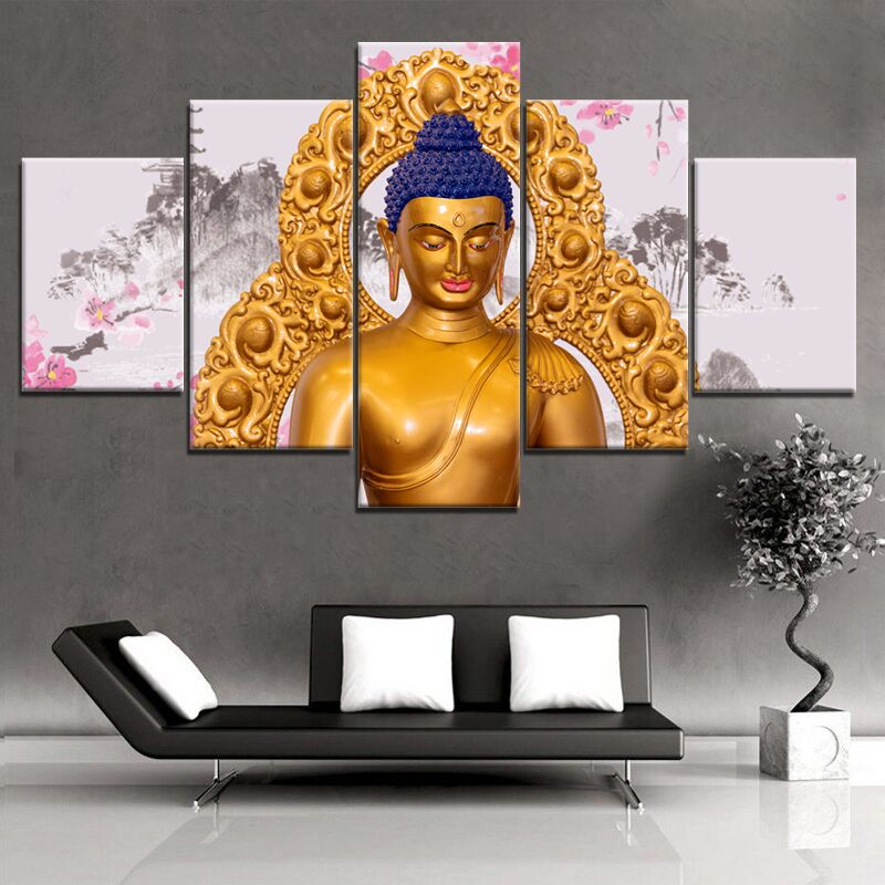 Blue Buddha, PRINTS, Ole Canvas