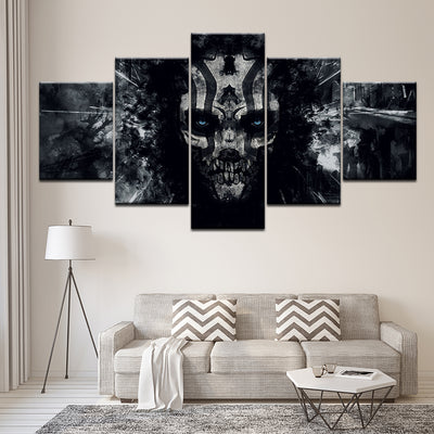 Blue Eyed Skull - Ole Canvas