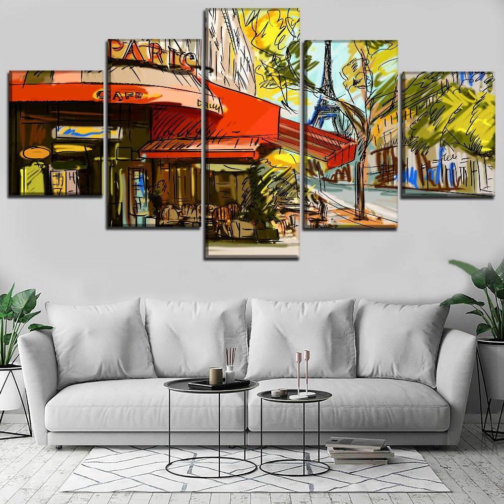 Cafe Paris, PRINTS, Ole Canvas