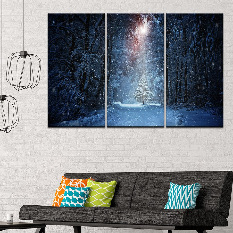 Snowy Forest - Ole Canvas