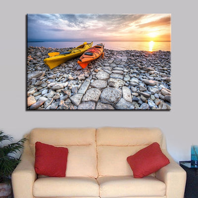 Two Kayaks - Ole Canvas