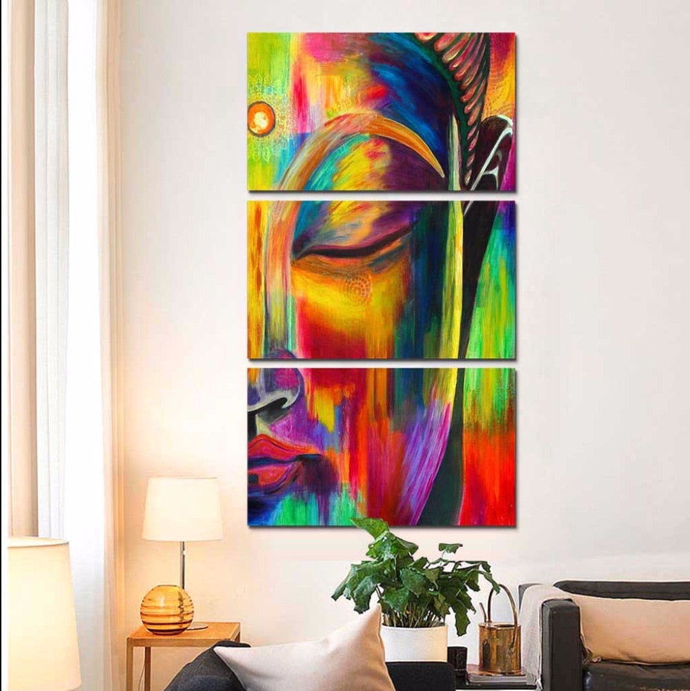 Colorful Buddha, PRINTS, Ole Canvas