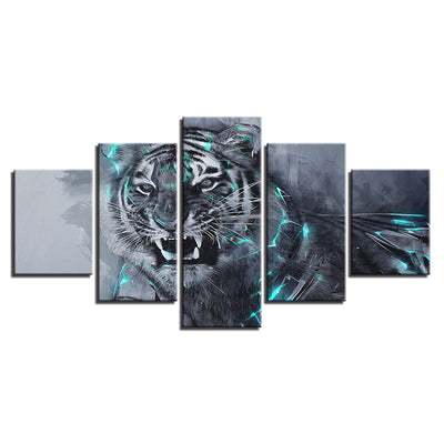 Fierce Tiger - Ole Canvas
