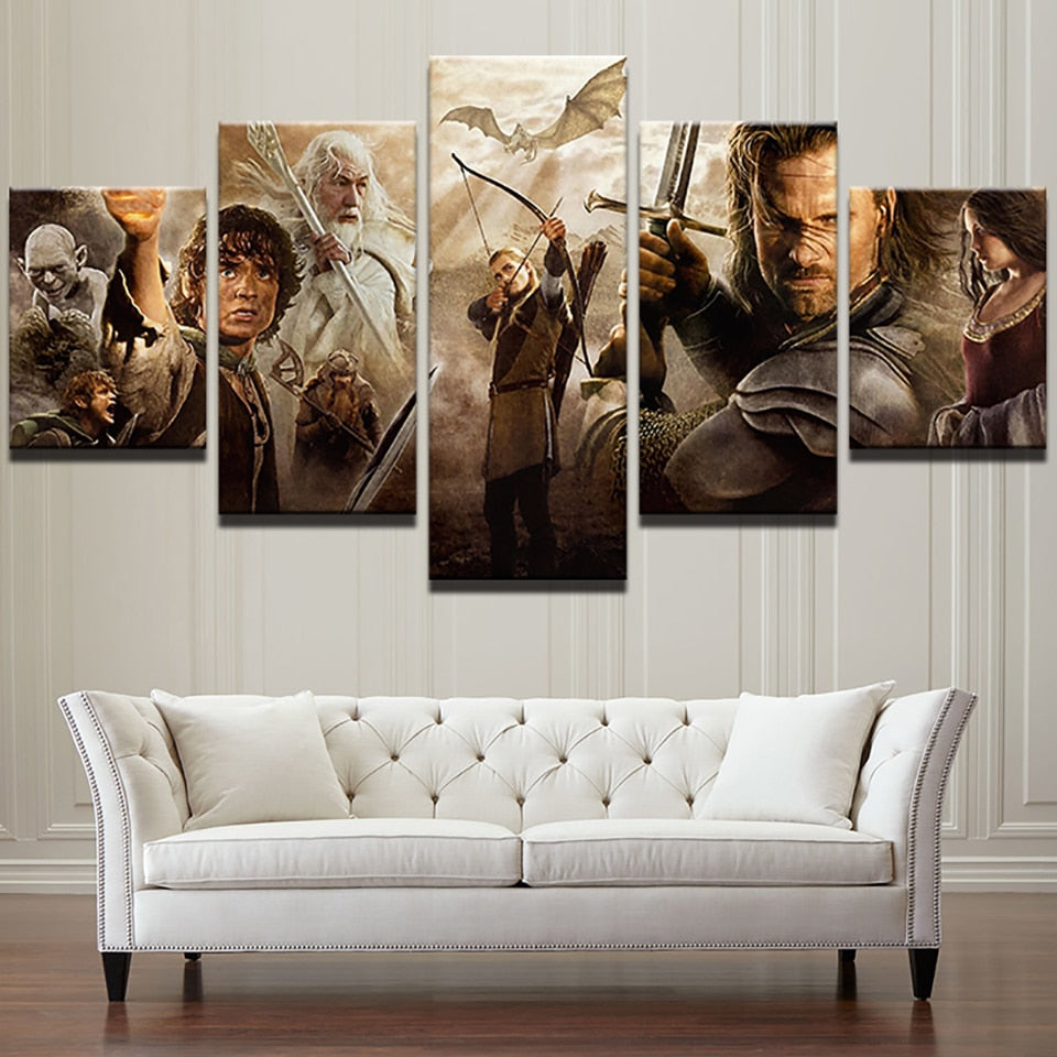 Collage Lord Of The Rings - Ole Canvas
