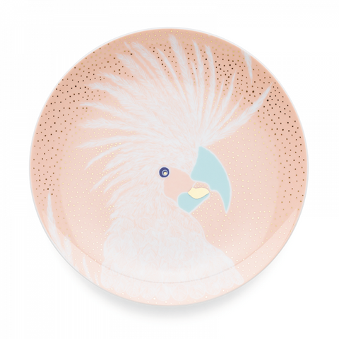 Dessert Plate 19 cm, Bird Powder Pink