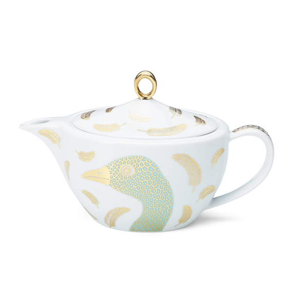 Tea Pot 97 cl, Bird Turquoise
