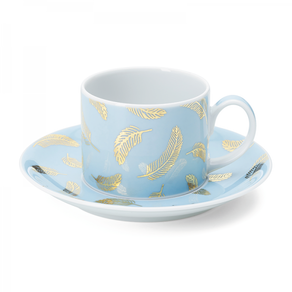 Tea cup & saucer 20 cl, Bird Blue