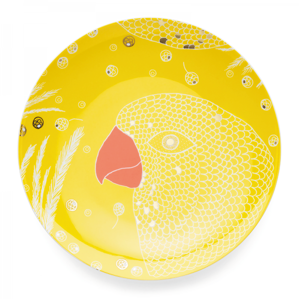 Dinner plate 28 cm, Bird Yellow