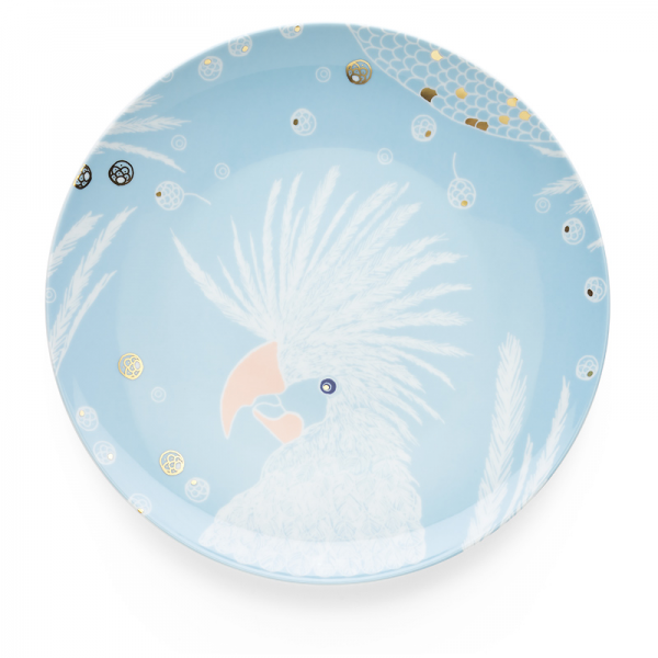 Dinner plate 28 cm, Bird Light Blue