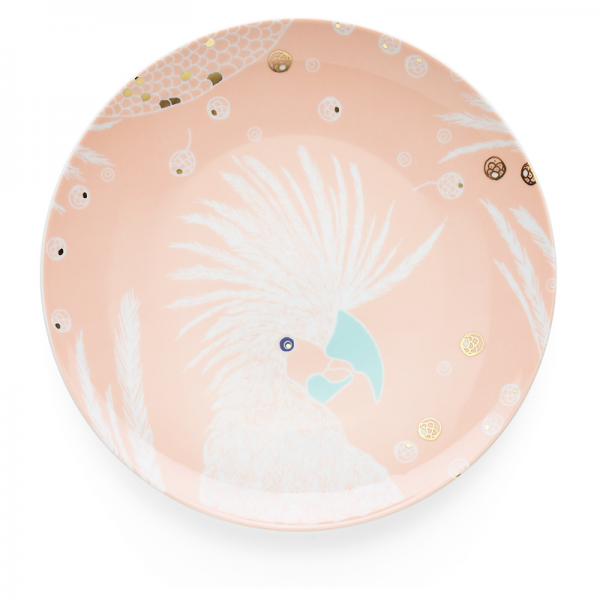Dinner plate 28 cm, Bird Powder Pink