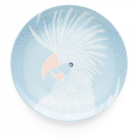 Dessert Plate 19 cm, Bird Light Blue