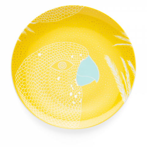 Dessert Plate 19 cm, Bird Warm Yellow