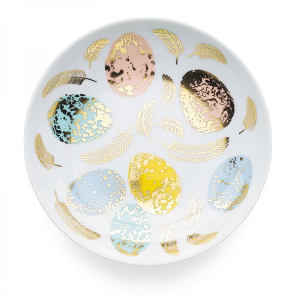 Soup Plate 19 cm, Bird Egg Gold
