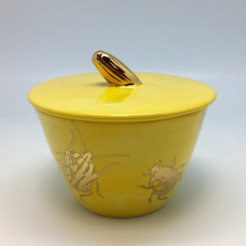Dandelion yellow sugar bowl