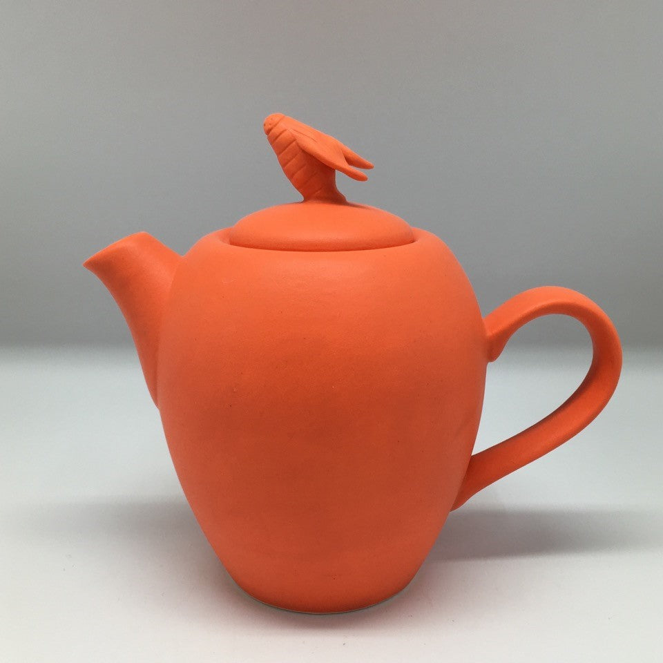 Poppy colour small teapot