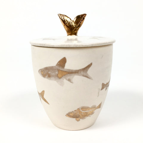A pot with golden fish