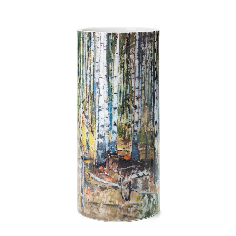 "A medium size porcelain vase ""Forest"""