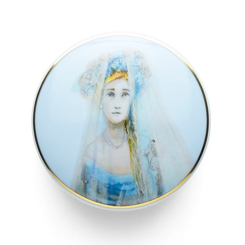 """White Lady"" round box"