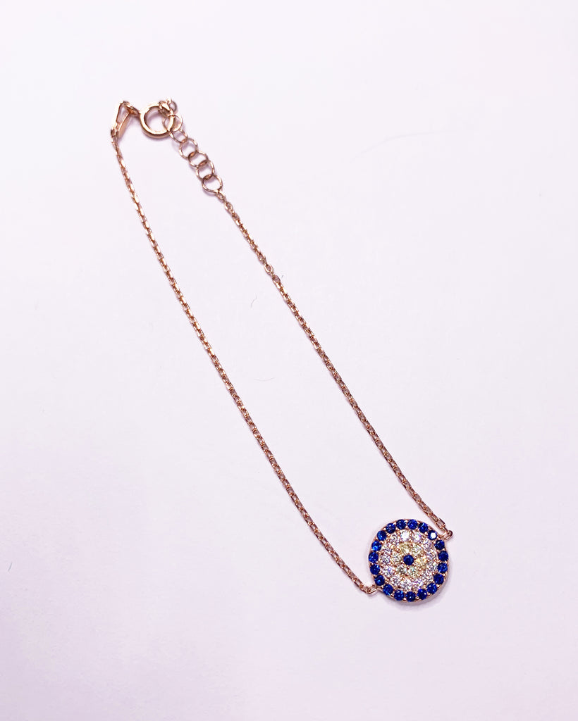 Evil Eye medium 18k gold plated bracelet