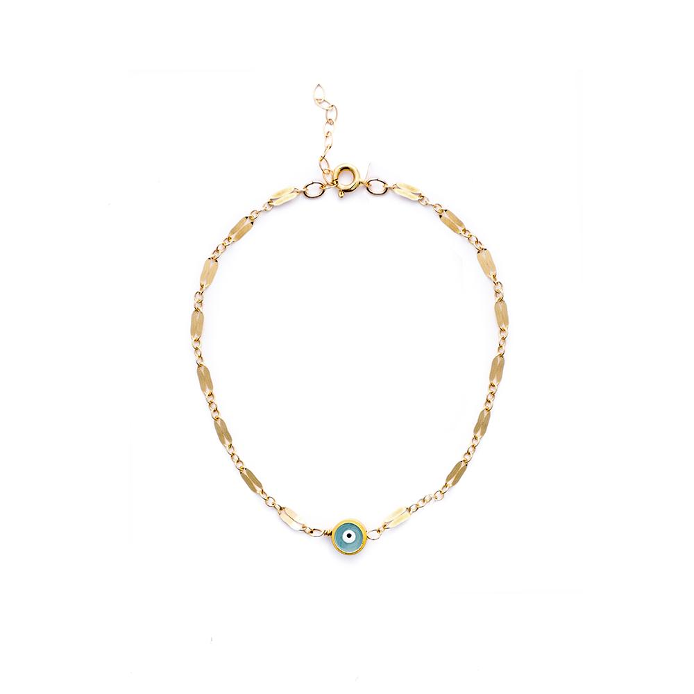 My Third Eye is Blue Chain Bracelet - Gold Filled