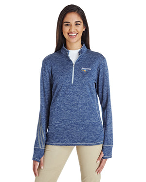 Golf 3-Stripes Heather Quarter-Zip