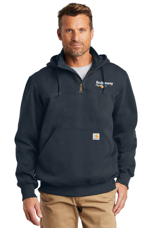 Paxton Heavyweight Hooded Zip Mock Sweatshirt