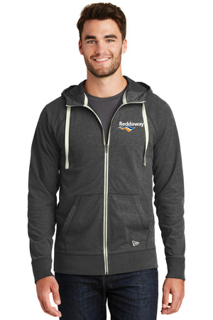 Sueded Cotton Full-Zip Hoodie