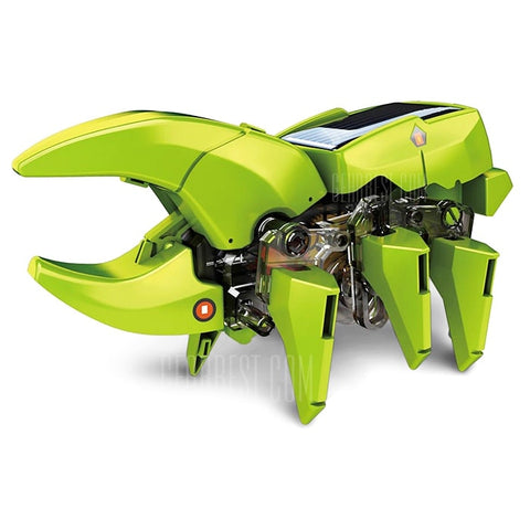 CUTE SUNLIGHT 4 in 1 Solar Dinosaur Robot DIY Kit - GREEN