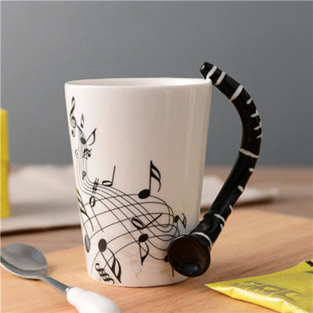 Guitar Personality Music Note Cup