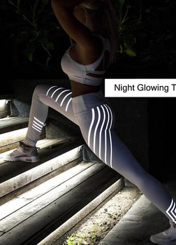 Neon Reflect Workout Leggings