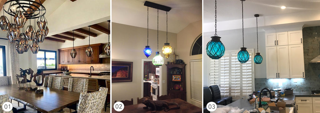 Decorative pendant lighting, creating ambiance in your home with lighting.