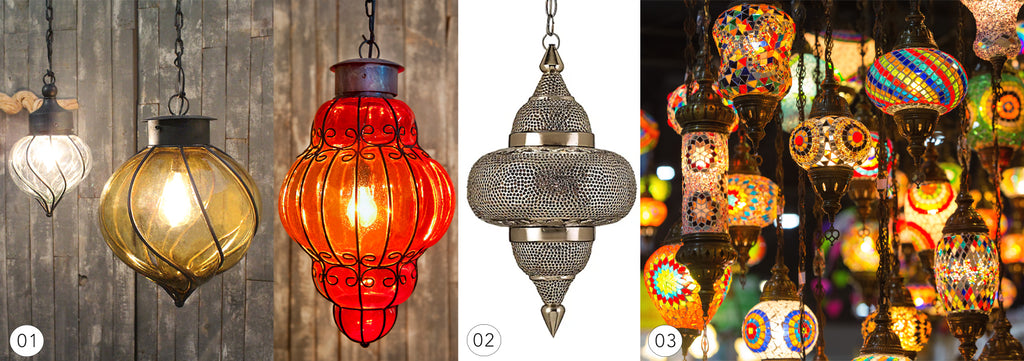 Lighting from Mexico compared to Moroccan lighting and Turkish lighting