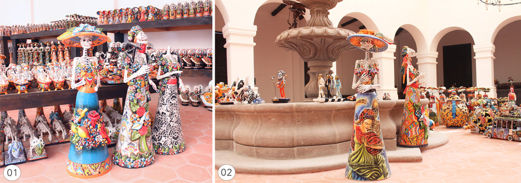 Large Catrina Sculptures from Dolores Hidalgo Mexico